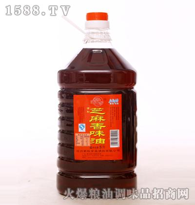 新虹芝麻香味油5L-新虹