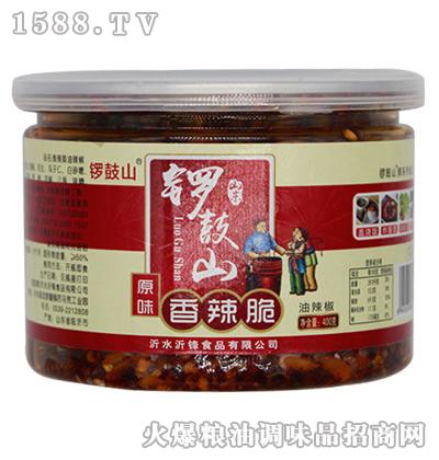 原味香辣脆油辣椒400克-锣鼓山