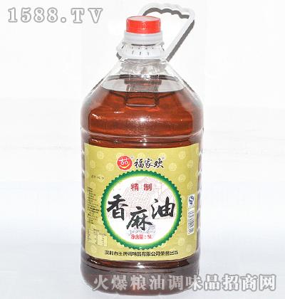 精制香麻油5L-福家欢