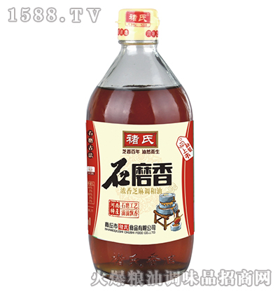 石磨香浓香芝麻调和油(大瓶)-褚氏
