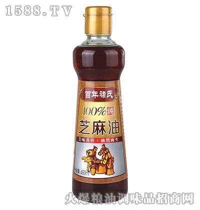 芝麻油450ml-百年褚氏