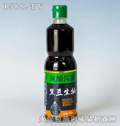 风酿酱油黑豆生抽500ml
