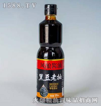 黑豆老抽酿造酱油500ml-风酿酱油