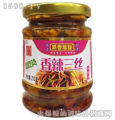 香辣三丝210克-顶香家族