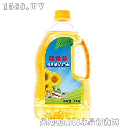 清香葵花籽油1.8升-福龙花
