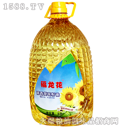 清香葵花籽油5升-福龙花