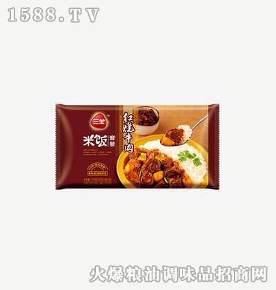 红烧牛肉方便米饭375g-三全
