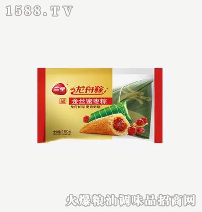 龙舟粽金丝蜜枣粽100g-三全