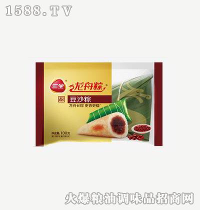 龙舟粽豆沙粽100g-三全