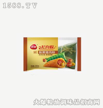 龙舟粽板栗猪肉粽100g-三全