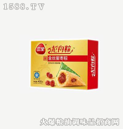 龙舟粽金丝蜜枣400g-三全