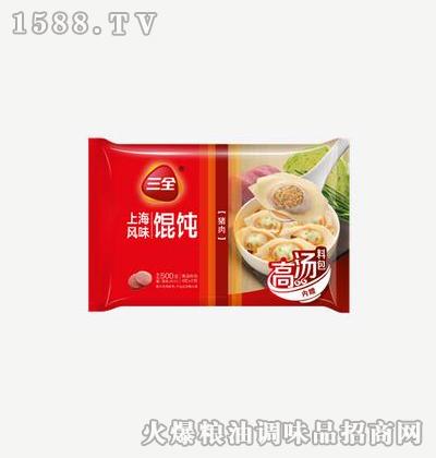 上海风味馄饨猪肉500g-三全