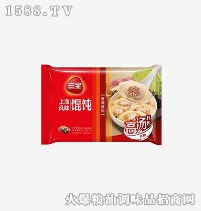 上海风味馄饨香菇猪肉500g-三全