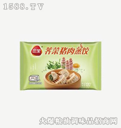 荠菜猪肉蒸饺120g-三全