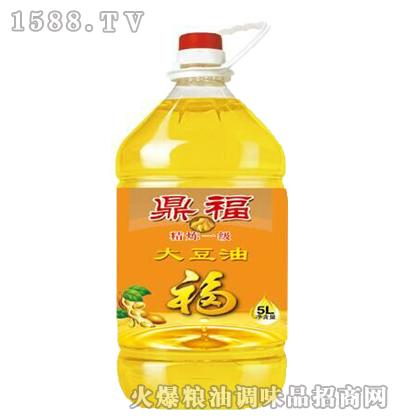 精炼一级大豆油5L-鼎福