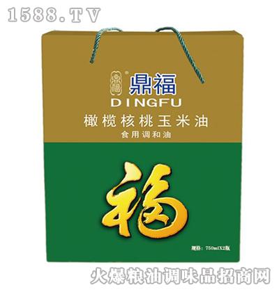 橄榄核桃玉米油礼盒-鼎福