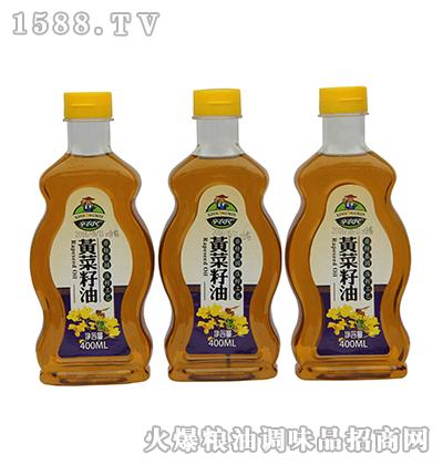 辛农民黄菜籽油400ml