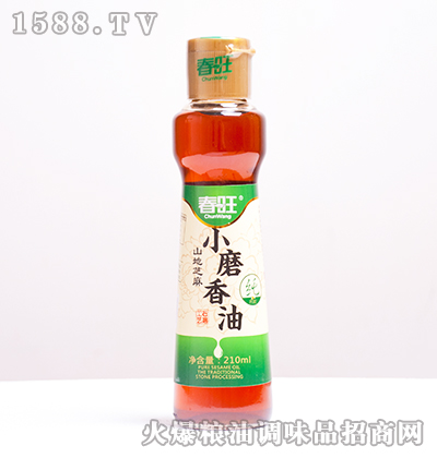 山地芝麻小磨香油210ml-春旺
