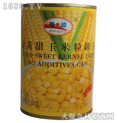 冬旭黄金甜玉米粒罐头400g