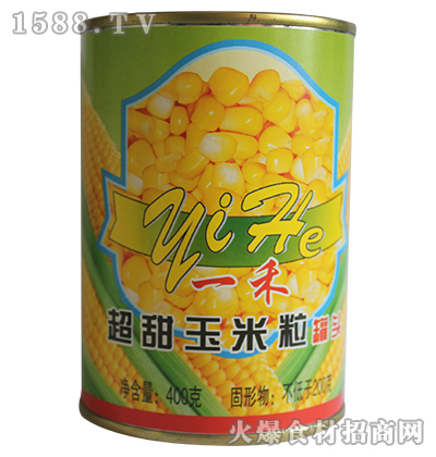 一禾超甜玉米粒罐头400g