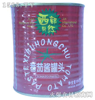 西都厨红番茄酱罐头850g