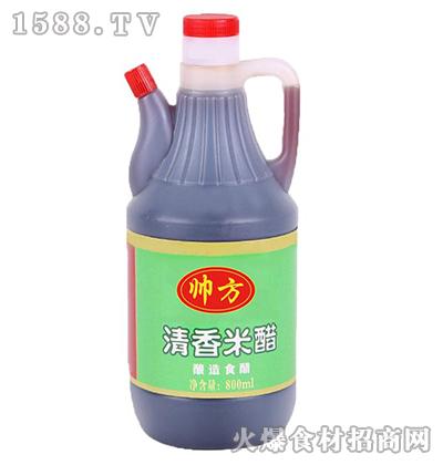 帅方清香米醋800ml