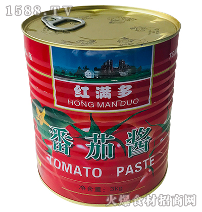 红满多番茄酱3kg(罐装)