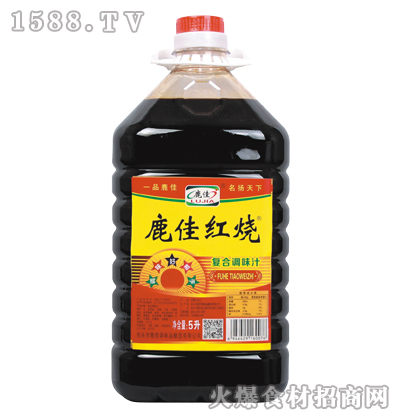 鹿佳红烧复合调味汁5L