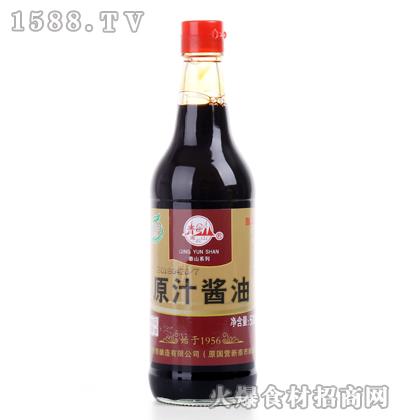 青云山原汁酱油500ml