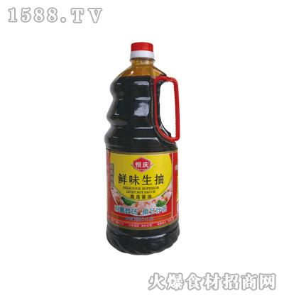 恒庆鲜味生抽1900ml(塑料壶)