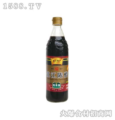 恒庆牌镇江陈醋四年陈580ml(鱼鳞纹瓶)