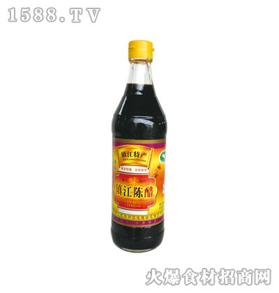 镇江陈醋500ml麻光瓶-恒庆牌