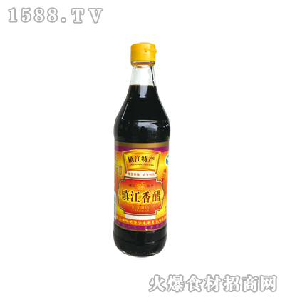 镇江香醋500ml圆瓶-恒庆牌
