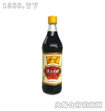 镇江陈醋500ml(圆瓶)-恒庆牌