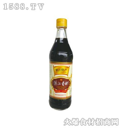 镇江香醋500ml(圆瓶)-恒庆牌