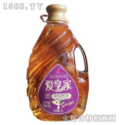爱享家亚麻籽葵花籽食用调和油5L