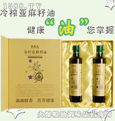 香泰乐冷榨亚麻籽油500mlx2