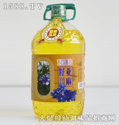 稻裕亚麻籽油5L