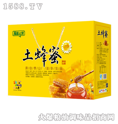 福盈千家泰山土蜂蜜500gx2瓶