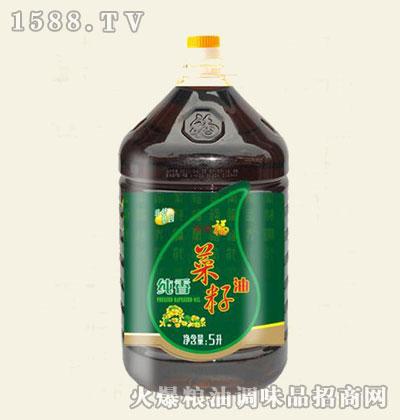 福美来物理压榨菜籽油5L