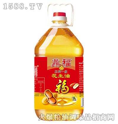 压榨一级花生油5L-鼎福