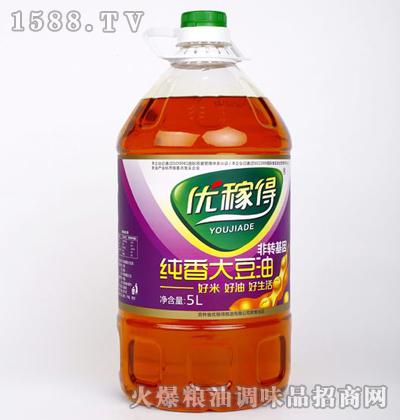 优稼得纯香大豆油5L
