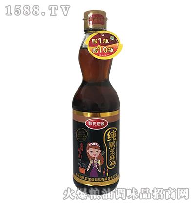韩氏迎客纯黑芝麻油420ml