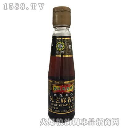韩氏迎客牌纯芝麻香油205ml