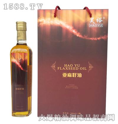 昊裕亚麻籽油500ML*2瓶
