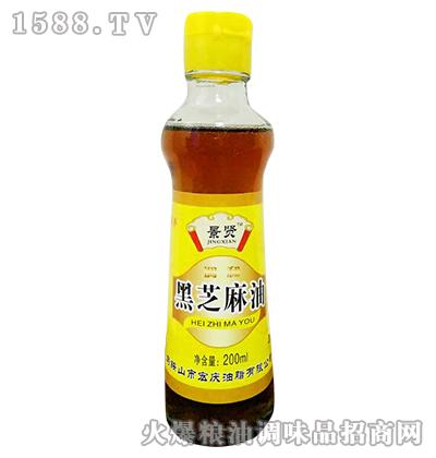 景贤黑芝麻油200ml