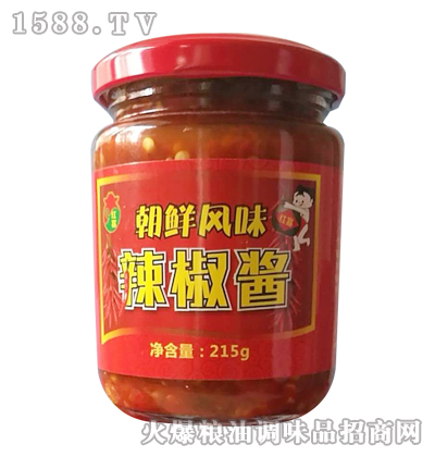 红富朝鲜风味辣椒酱215g