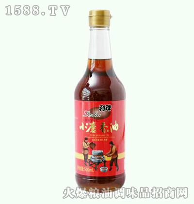 利珠小磨香油500ml圆瓶