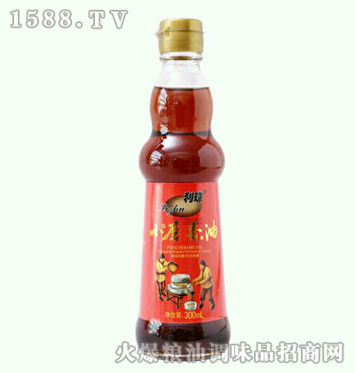 利珠小磨香油300ml圆瓶