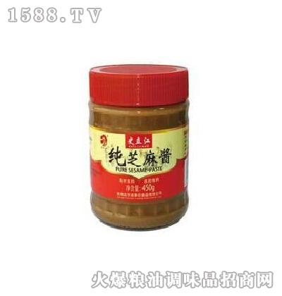 史立江纯芝麻酱450g